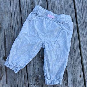 Light grey polka dot corduroy pants